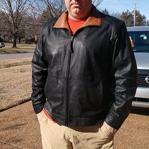 ..Cremieux Mens Leather Jacket